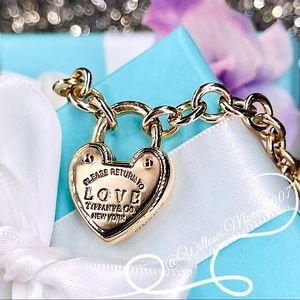 Return to Tiffany 18k Rose Gold Love Lock Bracelet